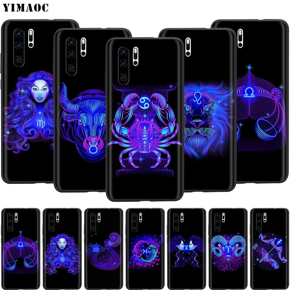 YIMAOC Zodiac Signs Silicone Case for Huawei Mate 10 P8 P9 P10 P20 Lite Pro P Y7 Y9 Smart Mini 2017 2018