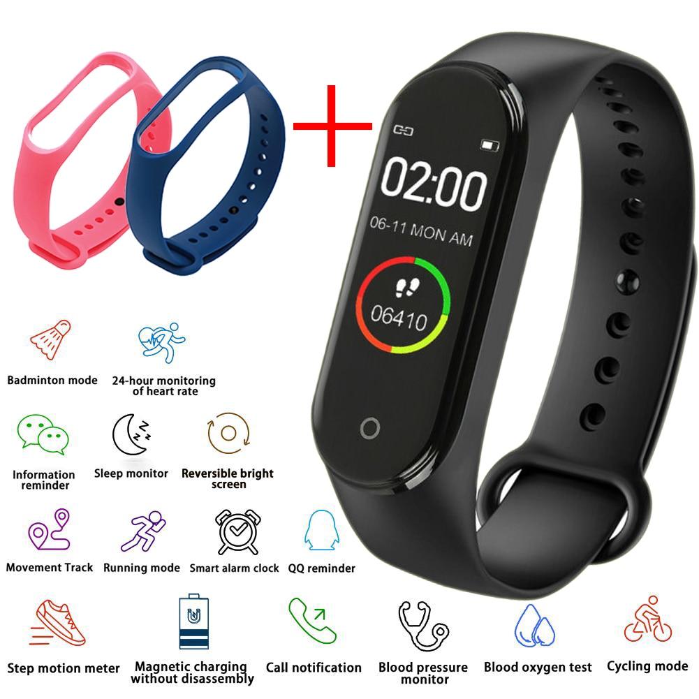 AliExpress - Men's Electronic Watch Women's Heart Rate Monitor Bluetooth Waterproof Message Call Reminder Pedometer Kids Watches Add Strap