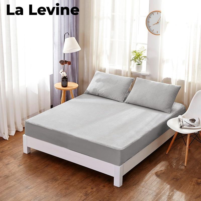 غطاء سرير مقاوم للماء ، مفرش سرير مخطط ، قطن ، غير قابل للانزلاق ، حجرة مرتبة ، بول ، مفرش سرير للأطفال والكبار