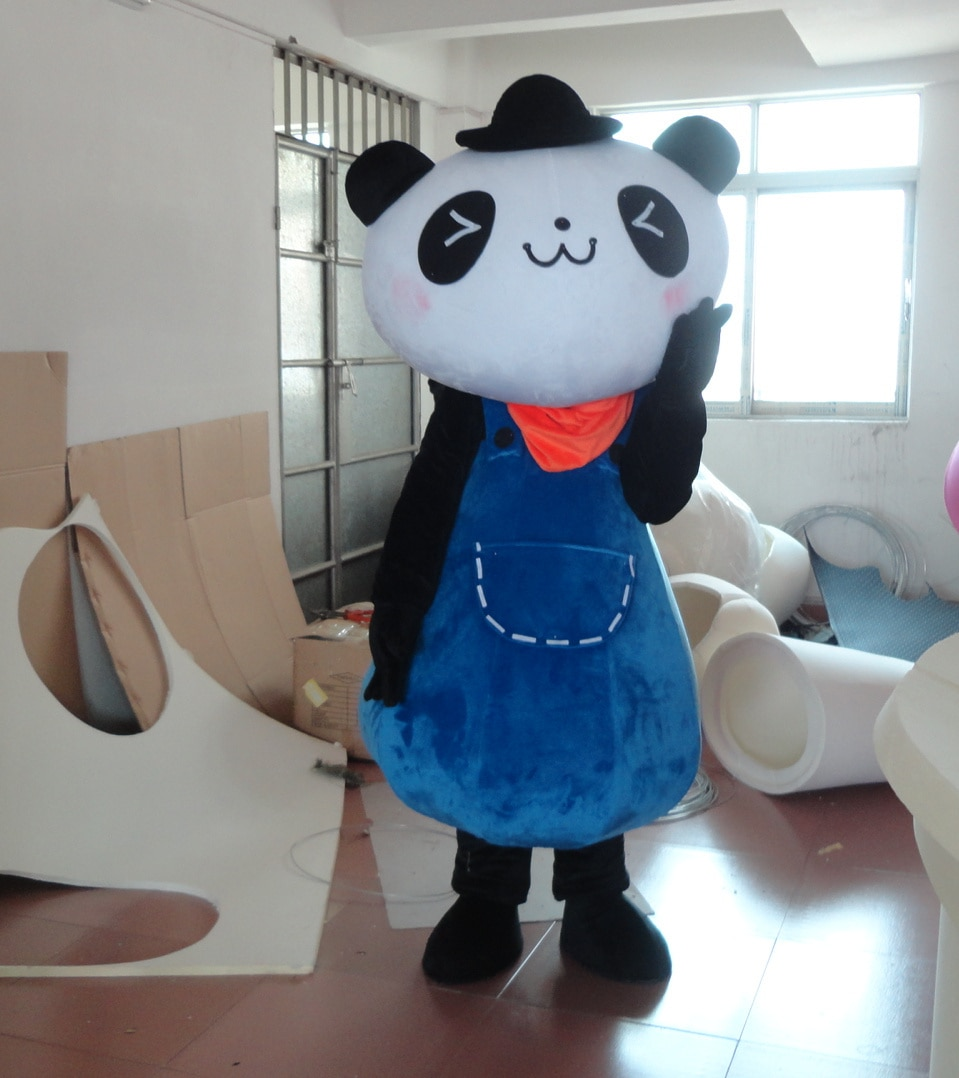 Blue Panda Mascot Costume Halloween Suits Cosplay Party Game Dress Outfits Clothing Advertising Carnival Easter Festival Adults