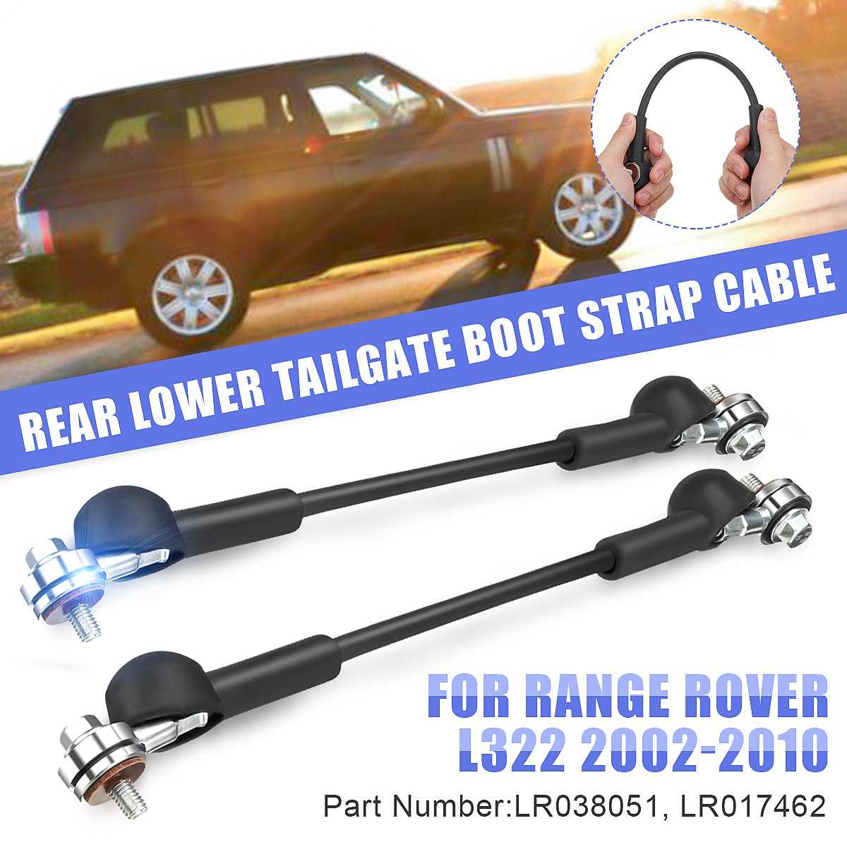 2 uds coche trasera puerta trasera más baja de correa Cable para Range Rover L322 2002, 2003, 2004, 2005, 2006, 2007, 2008, 2009, 2010 LR038051 LR0174