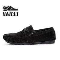 popular men casual slip on shoes black brown loafers shoes for mens anti slip man flats footwear good quality leather men shoes