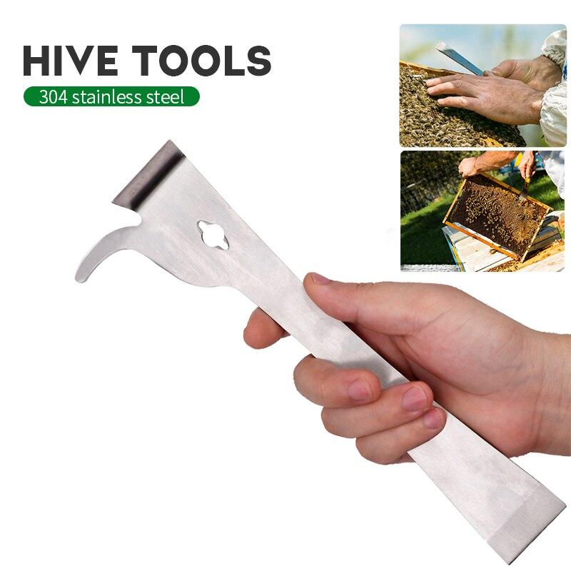 Cuchillo multifunción de apicultura para apicultura, raspador de colmena de abeja de acero inoxidable, rasqueta de Apicultura