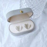 Серьги в форме сердца