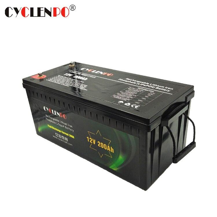 Venta directa de fábrica batería de litio 12 v 200ah paquete lifepo4 batería ev barco carrito de golf batería
