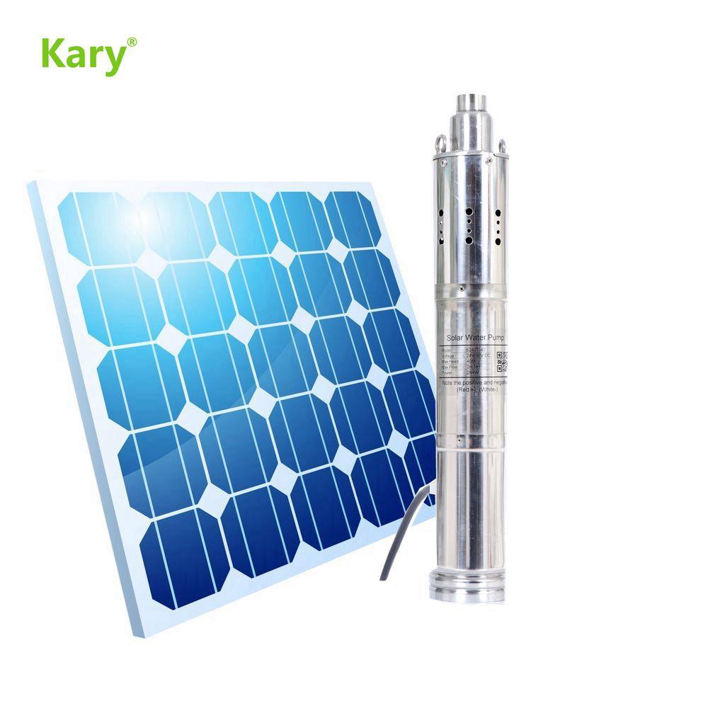 Kary-مضخة مياه غاطسة تعمل بالطاقة الشمسية بدون فرش ، 3.5 بوصة ، رفع 70 مترًا ، اتصال مباشر بالألواح أو البطارية