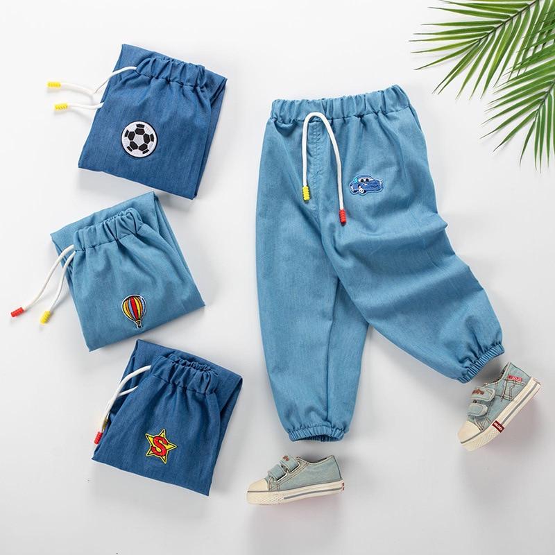 2020 algodón anti-mosquito pantalones primavera y verano bebé harem pantalones niños y niñas verano mosquito pantalones largos niños Pantalones