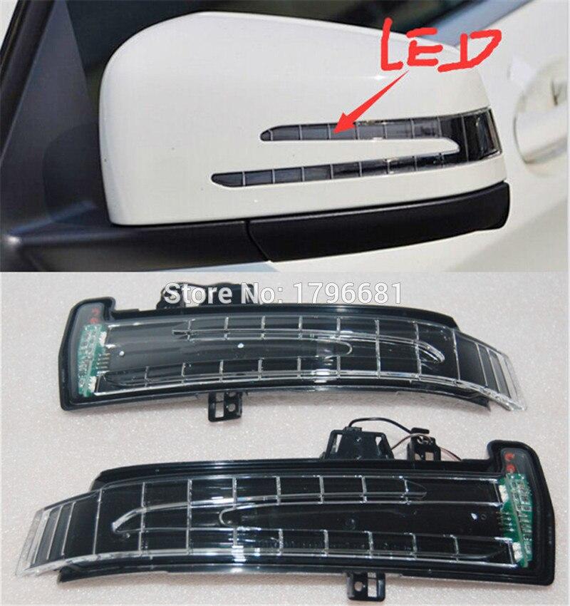 CAPQX, 2 uds., espejo lateral auténtico, indicador LED de señal de giro 1569069300 para Benz W212 W221 W204 C180 C200 C260 C300L GLK E200