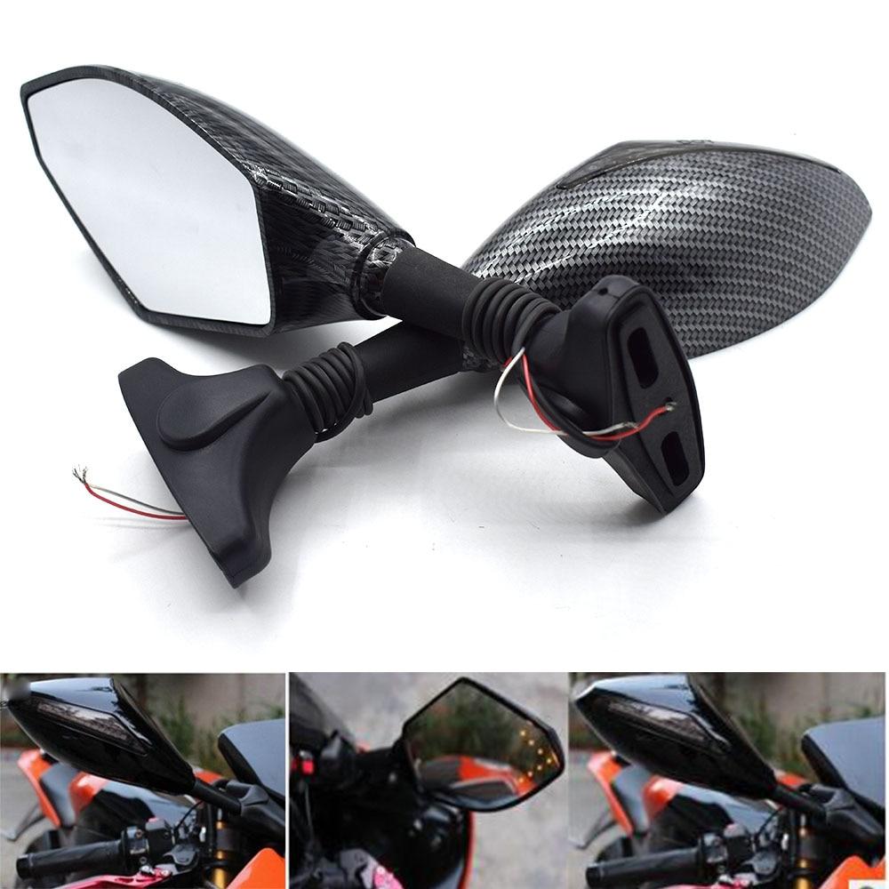 Espejo retrovisor lateral Universal para motocicleta con intermitente LED para BMW XB12R XB12SS XB12SCG F800GS F800R F800GT F800ST F800S