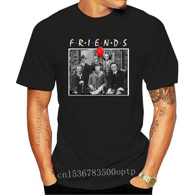 Camiseta de Horror Friends para hombre, camisa de manga corta de algodón,...