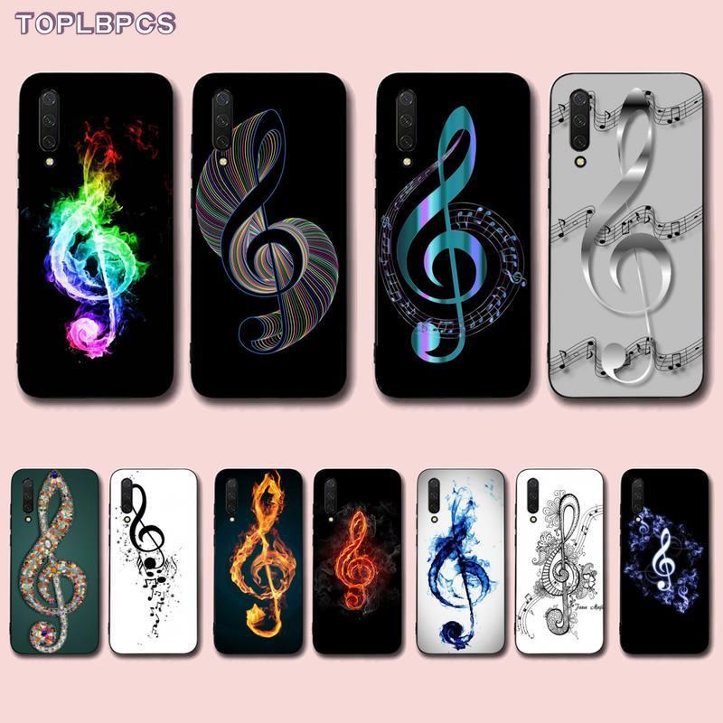 TOPLBPCS piano teclado celular negro Funda de teléfono para Xiaomi mi 9 8 10 5 6 lite F1 SE Max 3 2 mezclar 2s