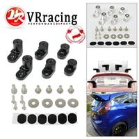 VR - Billet Aluminum Bolt-on Rear Wing Spoiler Hatch Riser Lift Extension T-6061 Anodized For 14-on Ford Fiesta ST VR-WSR02