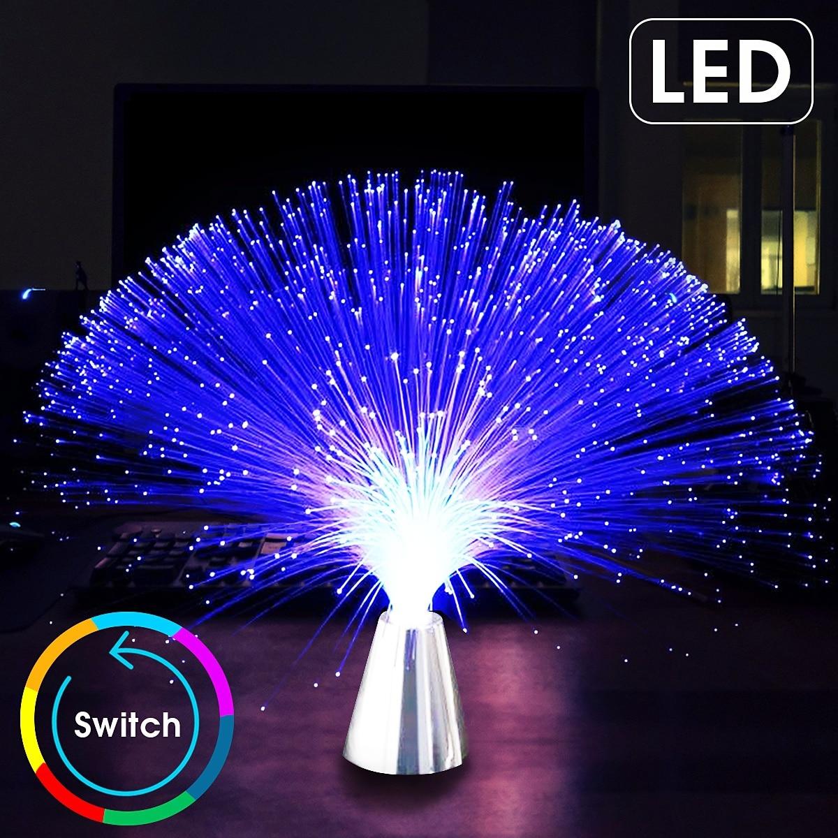 متعدد الألوان LED الألياف البصرية ضوء مصباح عطلة عيد الميلاد لوازم ديكورات زفاف للمنزل