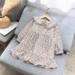 Girls Floral Dress 2020 New Baby Girls Dress Party Doll collar Elegant Princess Dress Fashion Kids Children Clothing 2-6 Years