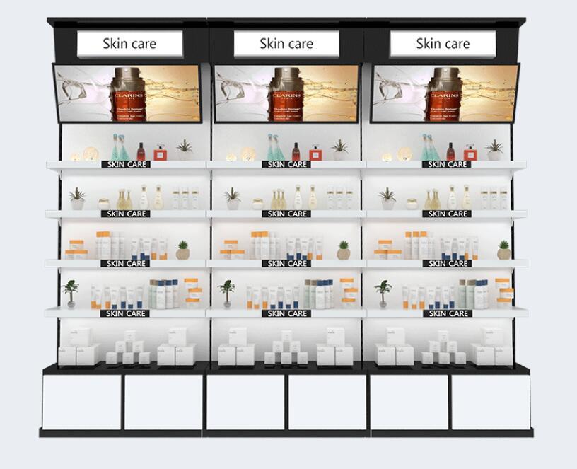مستحضرات التجميل عرض خزانة صالون تجميل المنتج الرف عرض خزانة السلع عرض خزانة عرض الرف الرف خزانة