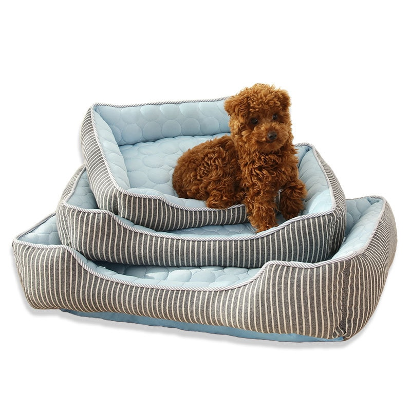 Soft Dog Bed Summer Pet Cool Feeling Nest Cat Deep Sleep Cooling Pad Supplies Dog Beds Products Acce