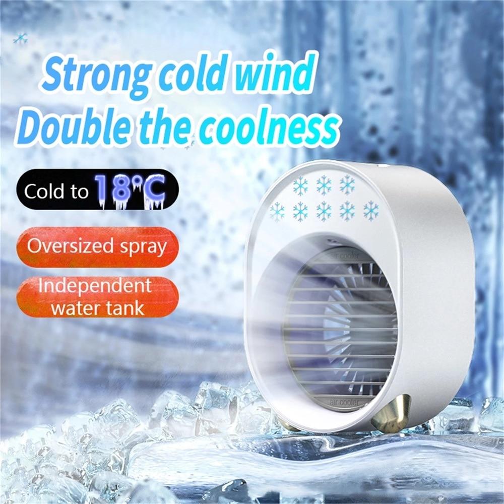 مروحة يو إس بي مكيف هواء متنقل تكييف هواء صغير متعدد الوظائف مرطب مكتب نوع مبرد الهواء للمكتب والاستخدام المنزلي