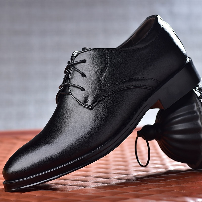 Men Shoes Dress High Quality Leather Formal  Oxford For Fashion Office