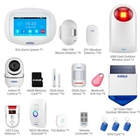 KERUI     systeme dalarme de securite domestique K52  equipement Anti-vol  surveillance interieure et exterieure sans fil  sirene  sonnette  capteur