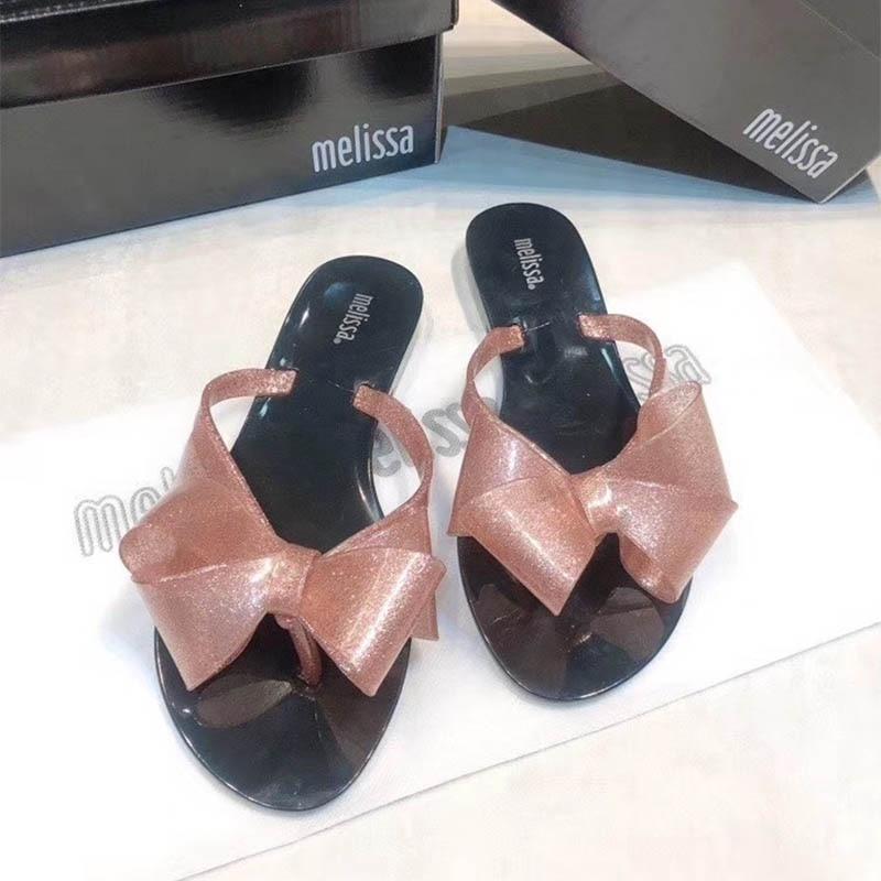 Zapatos Melissa para mujer, sandalias de gelatina con lazo 2020, zapatillas de marca para mujer, zapatos de gelatina brasileña para mujer, zapatos Melissa para adultos