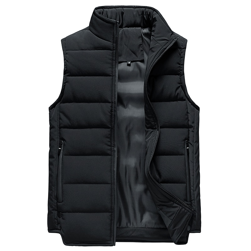Жилетка мужская ветрозащитная, куртка без рукавов, Повседневная утепленная безрукавка, зима