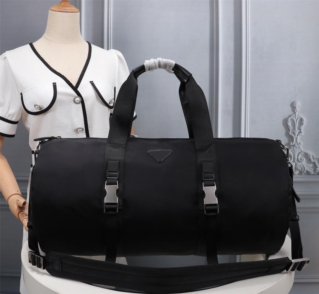 Men's black nylon canvas waterproof travel bag simple leisure luggage sports outdoor large capacity classic handbag