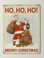 ho ho ho merry christmas sml tin metal wall sign aluminum metal sign 12x16 inches