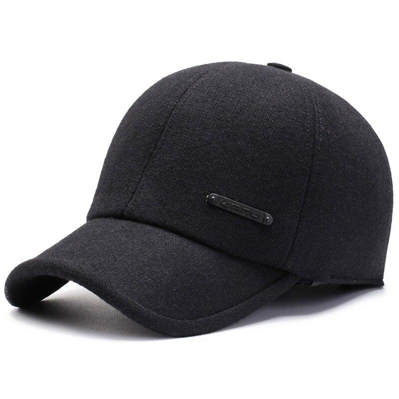 Новинка 2021, модные простые осенне-зимние шапки для папы, для женщин и мужчин, сохраняющие тепло, защита ушей, бейсбольная кепка, дизайнерские...