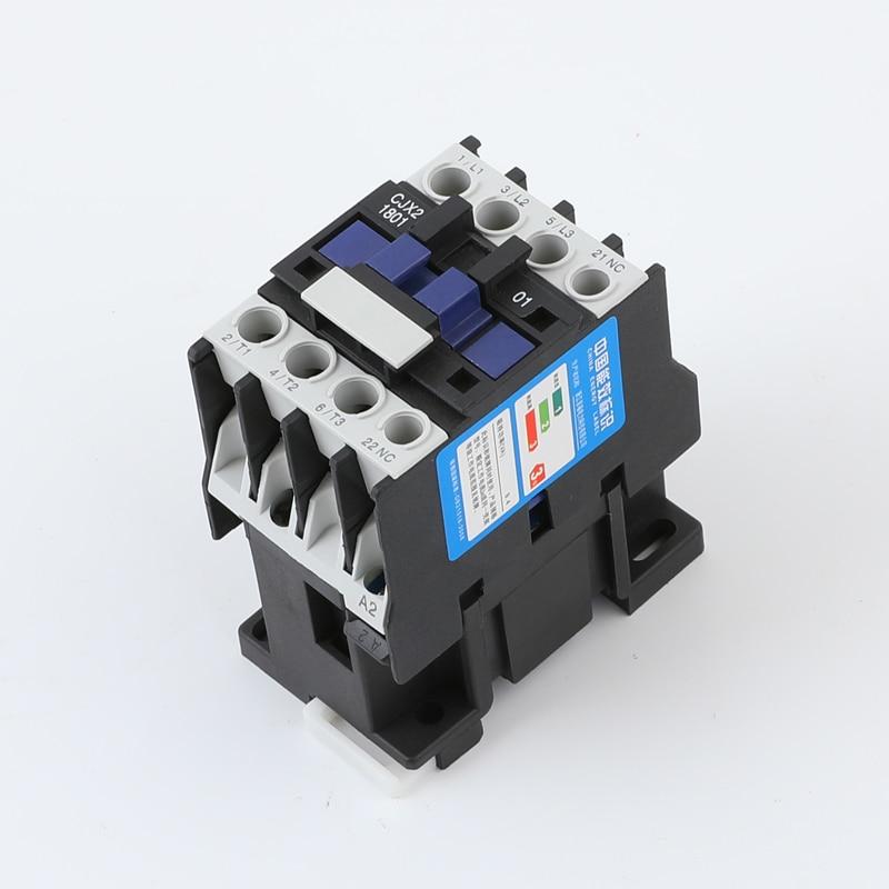 CJX2-1801 LC1 AC Contactor 18A 3 Fase 3-polo NC tensión de la bobina 380V 220V 110V 36V 36V 24V 50/60Hz en carril Din 3 P + 1NC