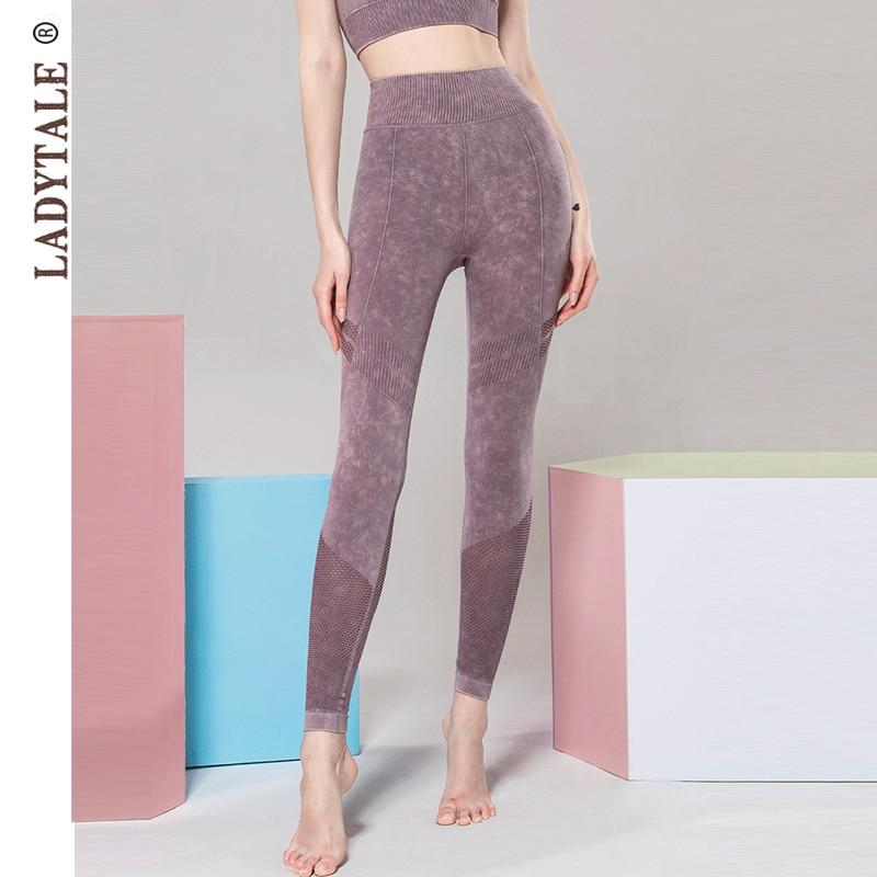 LadyTale alta cintura sin costuras Leggings Sexy Push Up gimnasio entrenamiento Running Activewear moda Pantalones Fitness pantalones atléticos