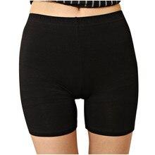 Sexy pantalon court femmes taille haute solide sans couture collants respirant femme été sous jupe robe sous-vêtements minceur culotte