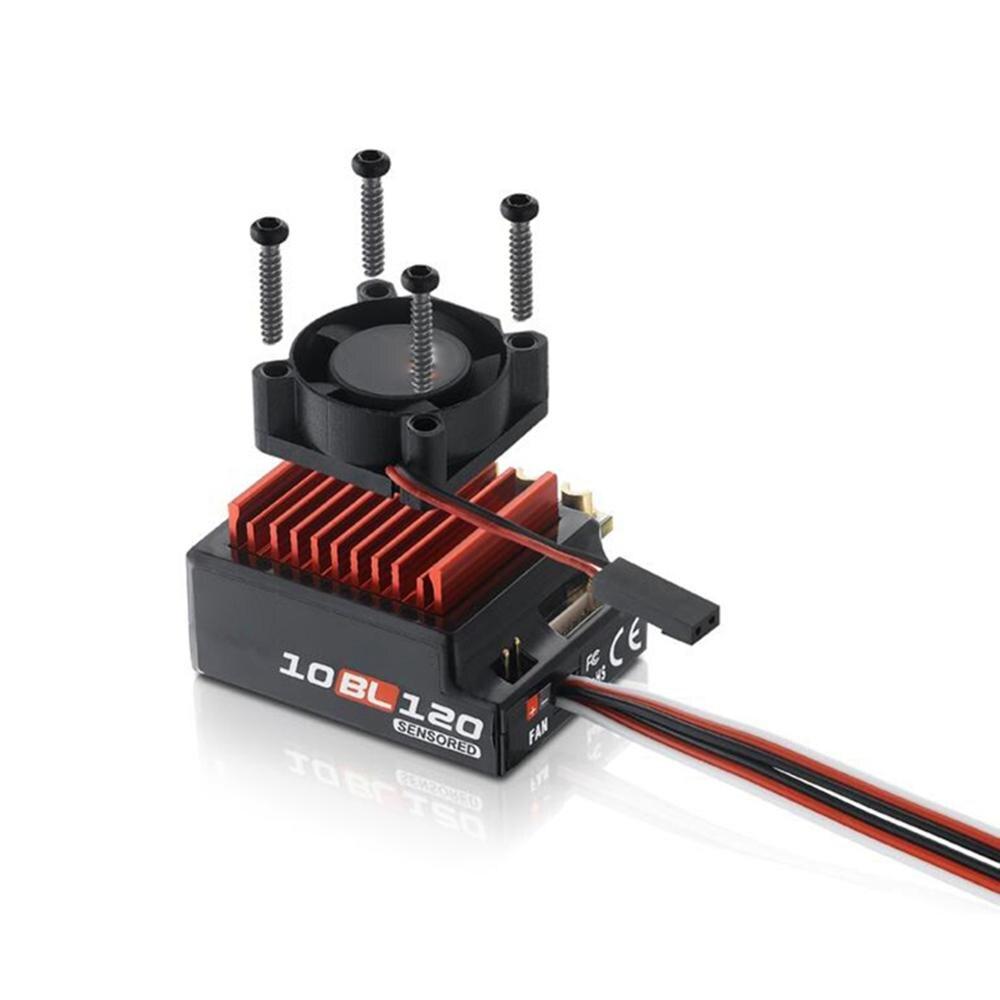 Para Hobbywing 60A/120A sin escobillas ESC RC coche Sensored Brushless ESC controlador de velocidad eléctrico para 1/10 1/12 accesorio para coche de control remoto