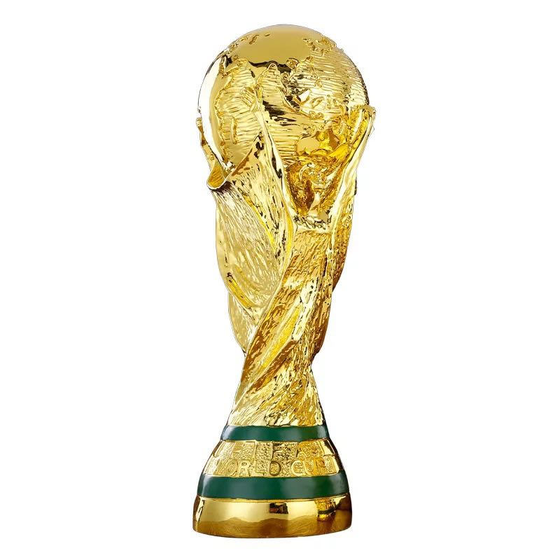 Big Size Golden Color World Cup Football Champion Souvenir Mascot 35CM Height World Cup Toy