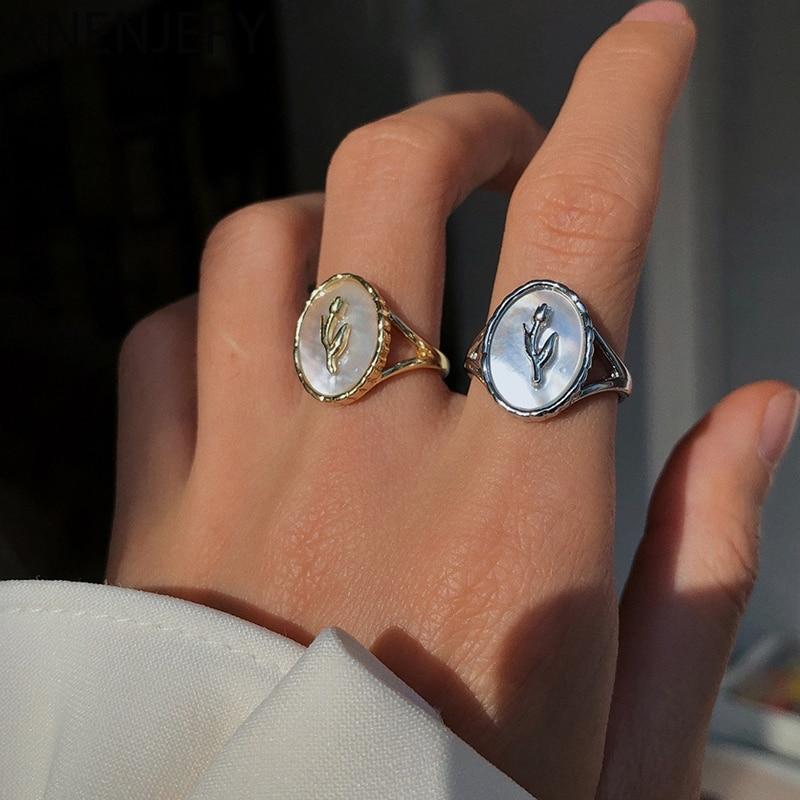 Женское-Открытое-кольцо-goldria-открытое-геометрическое-кольцо-из-стерлингового-серебра-925-пробы-с-металлическим-цветком-и-ракушкой-в-романти