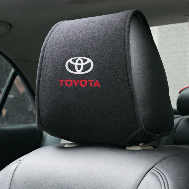 1 pçs quente encosto de cabeça do carro capa apto para toyota camry chr corolla rav4 yaris prius acessórios estilo do carro