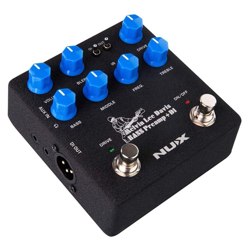 NUX Melvin Lee Davis NBP-5 Dual Switch Bass Pedal Bass Preamp,DI Box,Impulse Response (IR) Loader,Audio Interface in One enlarge