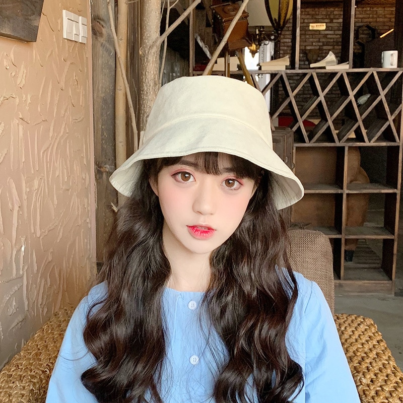 Spring And Summer Female Bucket Hat Baseball Hat Bowknot Fisherman's Cap Big Edge Hats Children's Spring And Summer Sun Hats