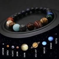 eight planets bead bracelet men natural stone universe yoga chakra solar bracelet for men jewelry