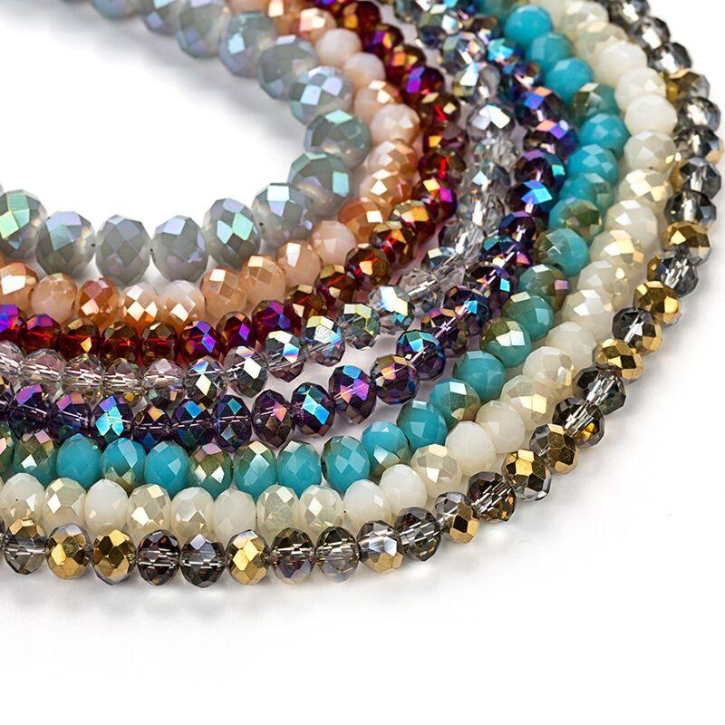 2x3/3x4/4x6/6x8mm grânulos de cristal checos para fazer jóias diy bordado ab cor espaçador facetado contas de vidro lotes por atacado a granel