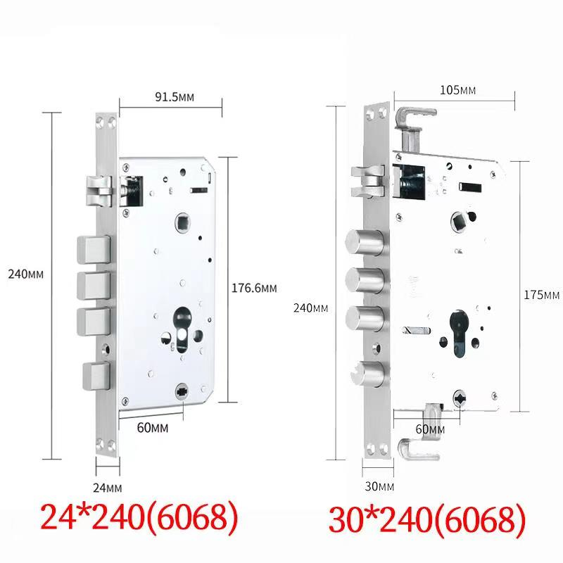Fingerprint Smart Door Lock 304 Stainless Steel Biometric With Digital RFID Card Bluetooth TTLOCK  App D2