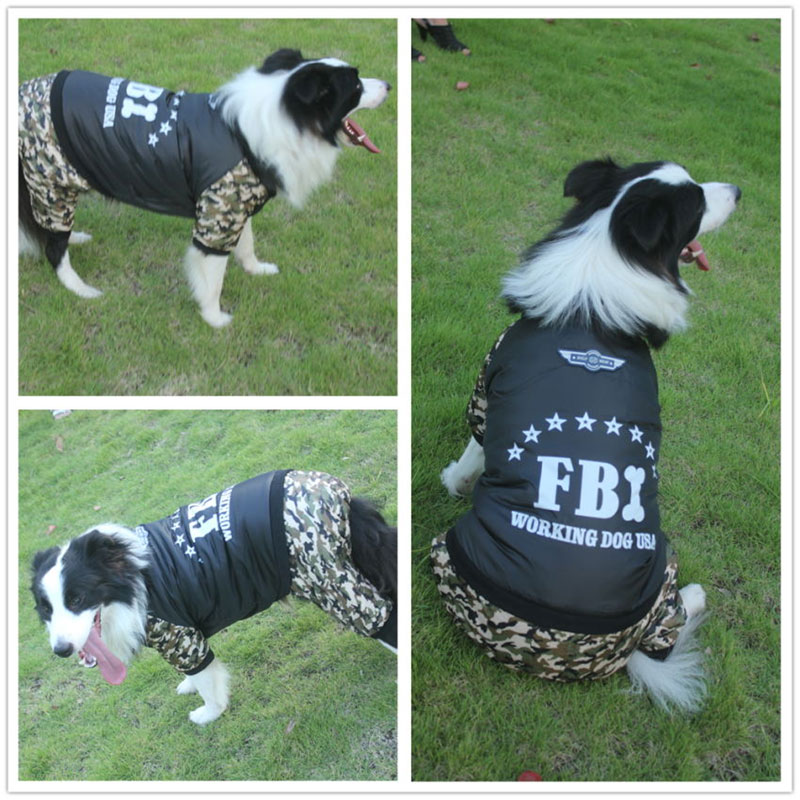 3XL-9XL ropa de invierno de gran tamaño para mascotas traje de perro del FBL chaqueta gruesa de abrigo cálido chaqueta gruesa de abrigo Golden Retriever mono de alaskán