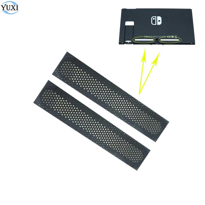 YuXi 1 Paar Staub Proof Net Aufkleber Für Nintend Schalter NS Konsole Zurück Shell Links und Rechts Kühlung Netzwerk