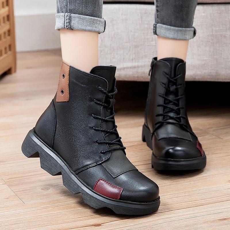 جديد أحذية النساء جولة كبيرة امرأة الأحذية المسطحة الفاخرة الشتاء المرأة الخريف الأحذية المسطحة أحذية غير رسمية