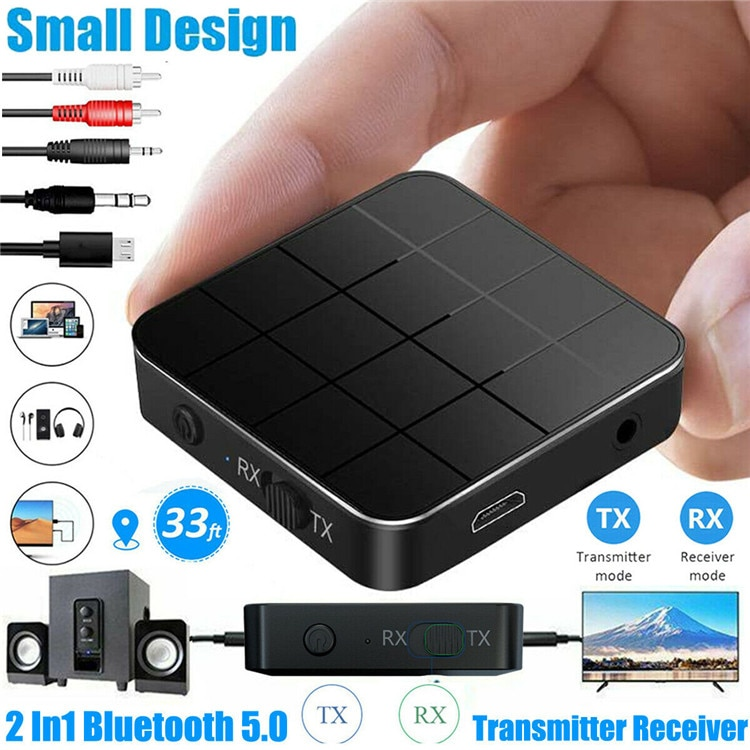 Bluetooth 5.0 Audio Receiver Transmitter 2 IN 1 AUX RCA 3.5MM Jack USB Music Stereo Wireless Adapter