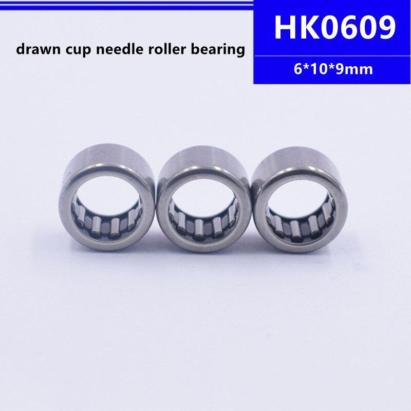 50 قطعة/100 قطعة عالية الجودة HK0609 6*10*9 مللي متر تعادل كأس محبوس محمل ذو بكرات إبرية تحمل 6x10x9 مللي متر HK061009