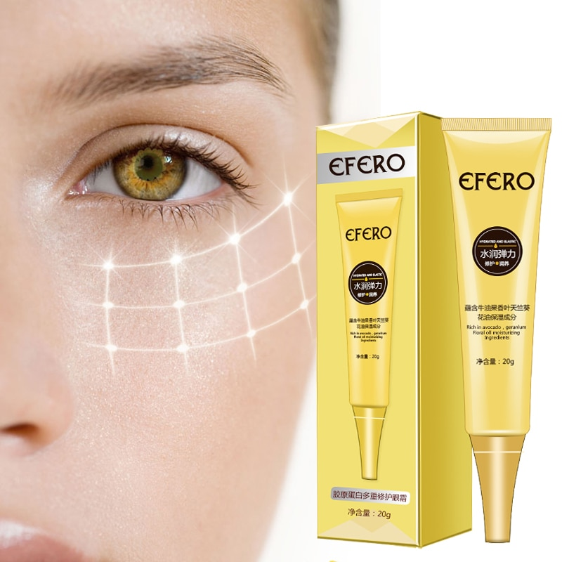 EFERO Collagen Eye Cream Anti-Aging Remove Dark Circles Wrinkle Eye Bags Moisturizing Nourishing Eyes Essence Anti-Puffiness недорого