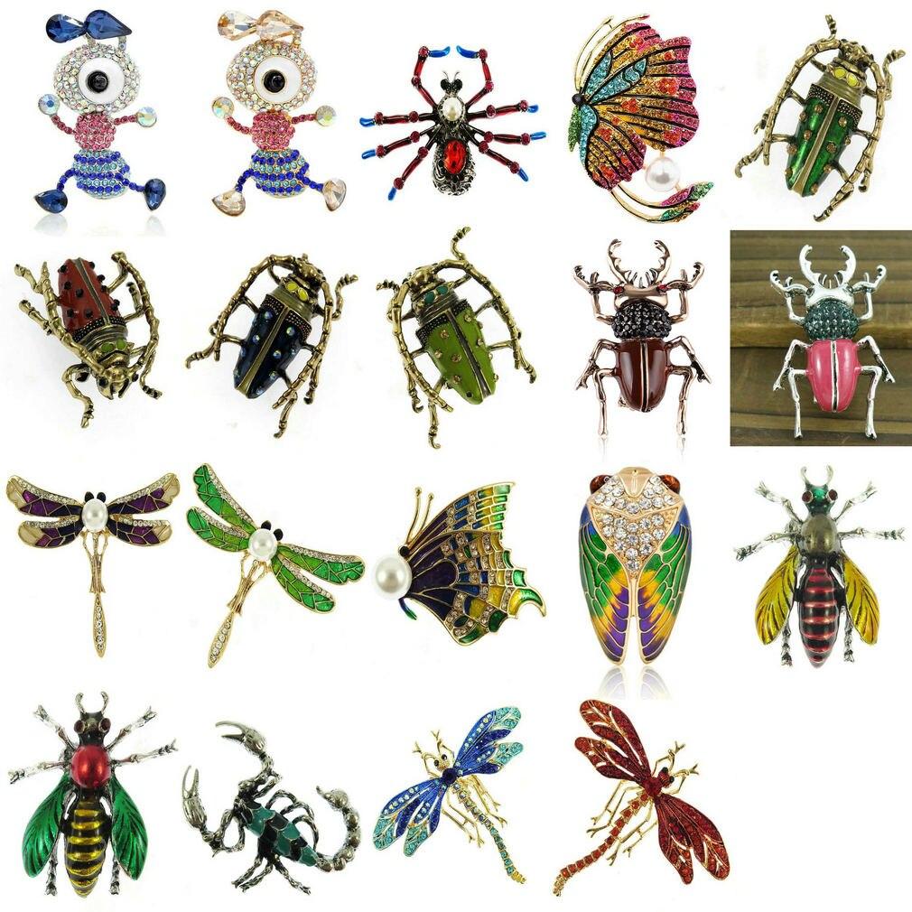 Broches de moda con esmalte de rana, Libélula, caracoles, joyería para hombre, broche de animales de dibujos animados, Pins para niños, regalos de cumpleaños, joyería de sombreros