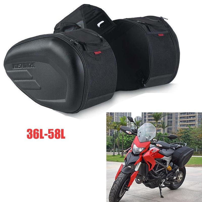 حقيبة سفر على شكل خوذة دراجة بخارية حقيبة يد ومعطف واق من المطر 36L-58L + لوحات بلاستيكية حقيبة سباق الدراجات النارية حقيبة جانبية لياماها