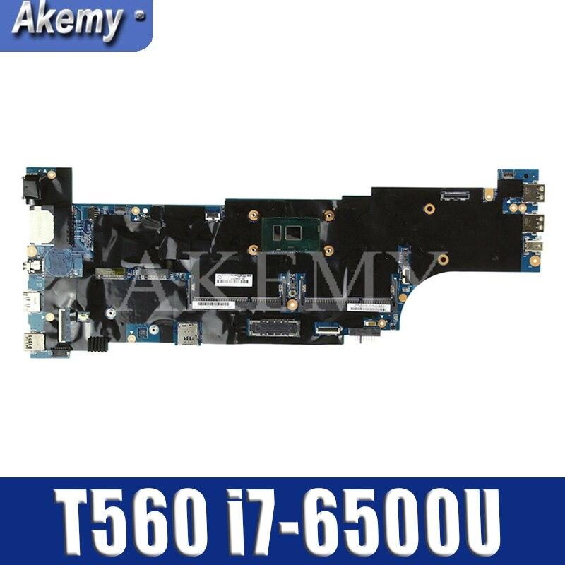 De alta calidad para ThinkPad T560 P50S placa base de computadora portátil 01AY312 con SR2F1 I7-6600U CPU 100% trabajando bien