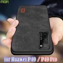 Mofi Voor Huawei P40 Case P40 Pro Cover Behuizing Siliconen Shockproof Jeans Pu Lederen Tpu High Definition